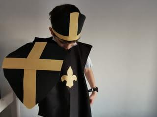 Votre déguisement de chevalier est maintenant terminé