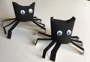 Araignée d'Halloween en rouleau de papier toilette [VIDÉO]