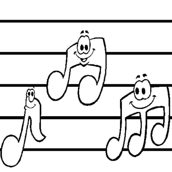 Coloriage note de musique en Ligne Gratuit à imprimer