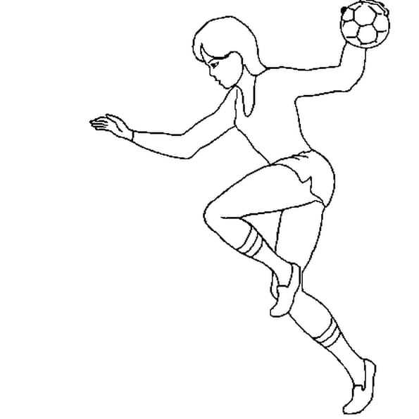 Coloriage handball 2 en Ligne Gratuit à imprimer