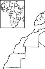 Coloriage carte Maroc