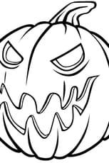 Coloriage Méchante citrouille d'Halloween