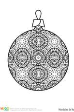 Mandala boule de Noël