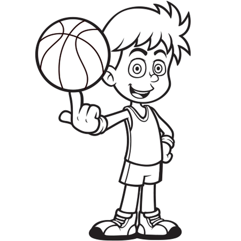 Coloriage Joueur De Basket Ball En Ligne Gratuit A Imprimer