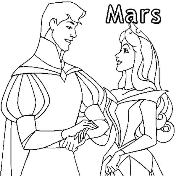 Dessin Prince Charmant a colorier