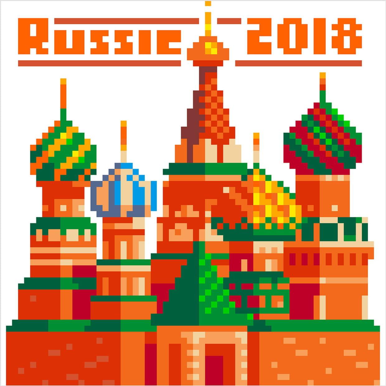 Russie 2018 En Pixel Art