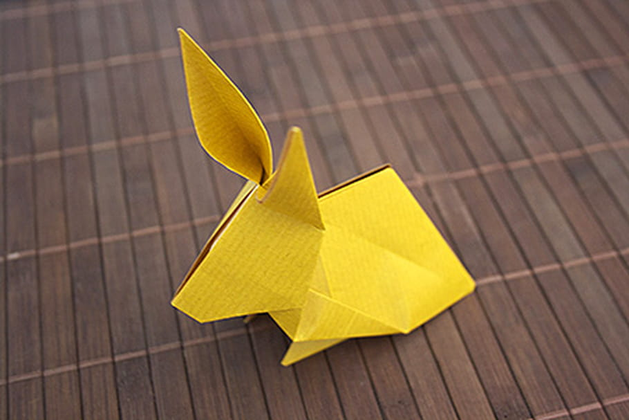 Un Lapin En Origami