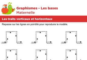 Les bases du graphisme, les traits horizontaux et verticaux niveau 2