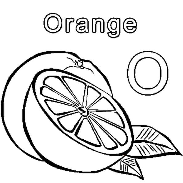 Coloriage O comme orange en Ligne Gratuit à imprimer
