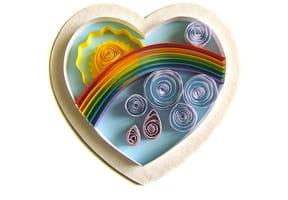 Le cœur de la Vie en quilling