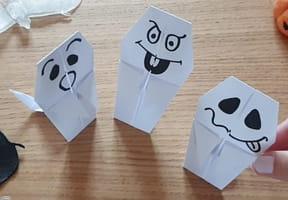 Fantôme en origami, pliage papier