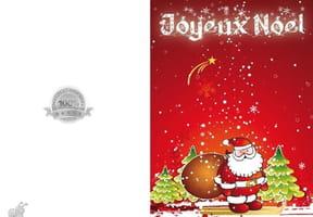 Carte Père Noël sous la neige