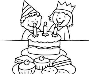 Gâteau d'Anniversaire avec 3bougies
