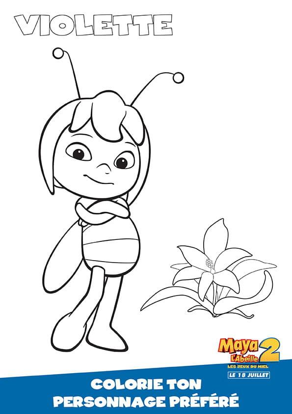 Violette, adversaire de Maya l'abeille