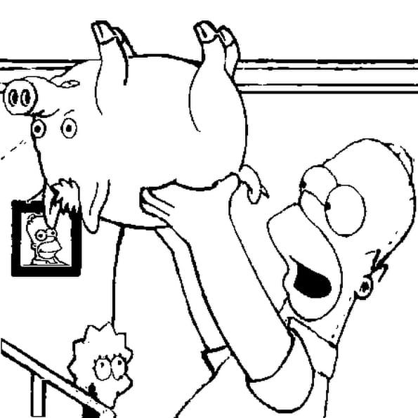 Coloriage spider cochon simpson en ligne gratuit imprimer - Cochon a dessiner ...
