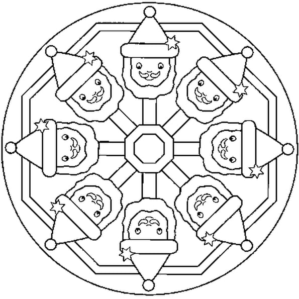 Coloriage mandala no l en ligne gratuit imprimer - Mandala a colorier en ligne ...
