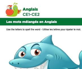Les mots mélangés en Anglais, exercice18
