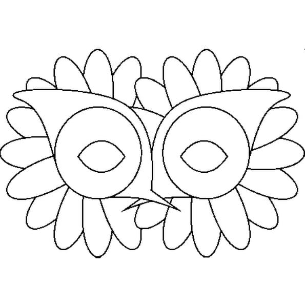 Coloriage loup de carnaval en ligne gratuit imprimer - Masque loup a imprimer ...