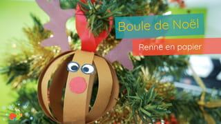 Boule de Noël renne Étape 10
