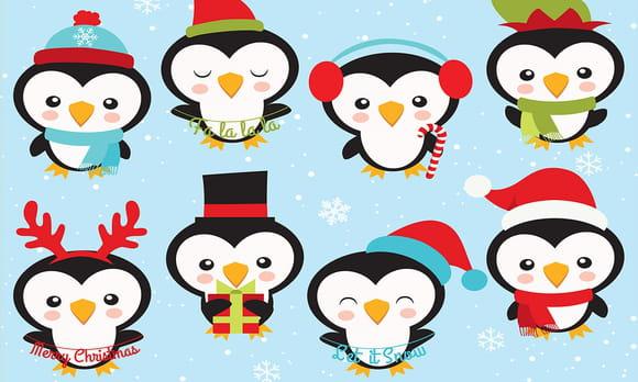 Coloriage Animaux de Noël