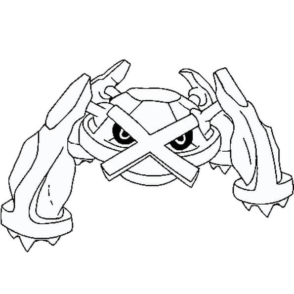 Coloriage pok mon metalosse en ligne gratuit imprimer - Coloriage pokemon en ligne ...