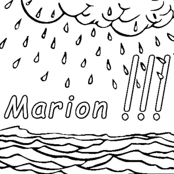 Dessin Marion a colorier