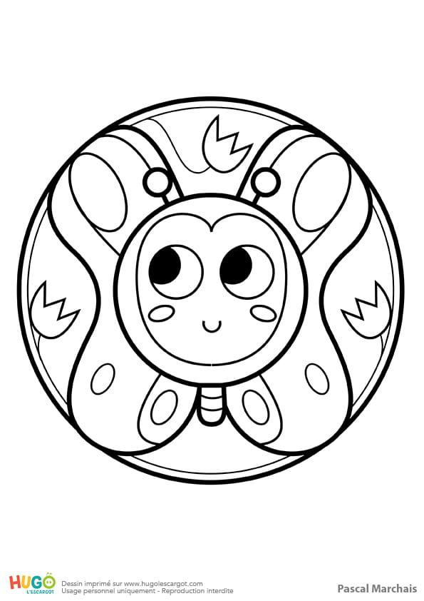 Mandala papillon, pour les petits