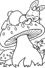 Coloriage lapins de pâques en Ligne Gratuit à imprimer