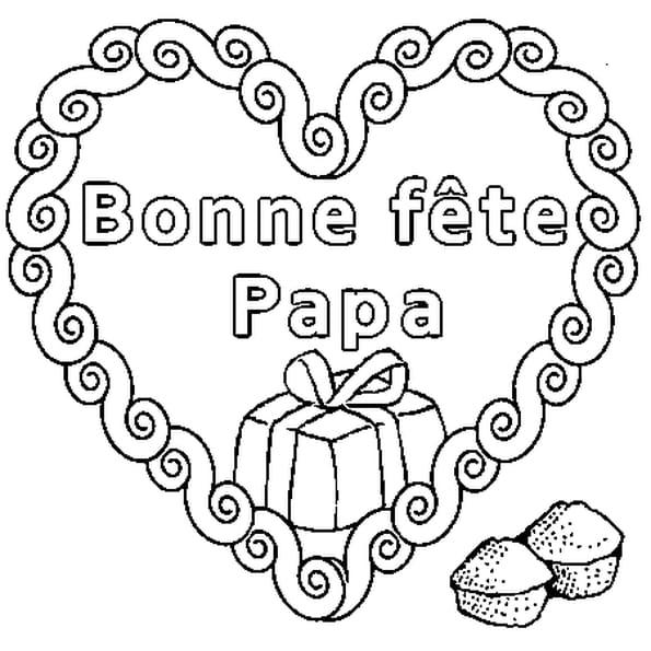 Dessin Bonne Fête papa a colorier