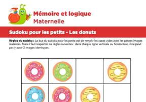 Sudoku pour les petits, les donuts