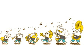 Animaux et instruments de musique