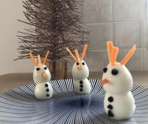 Œufs durs bonhomme de neige [VIDEO]