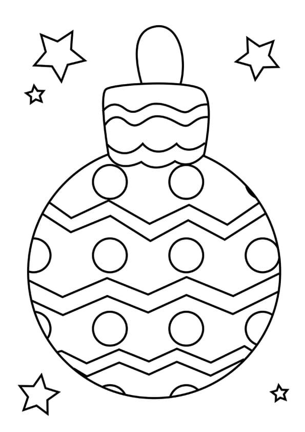 Coloriage boule de Noël formes géométriques