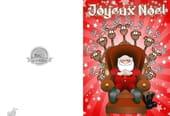 Carte de vœux Père Noël relax
