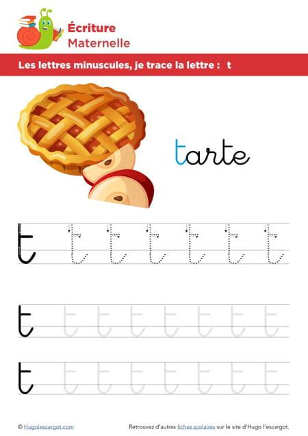 Les lettres minuscules, je trace la lettre t