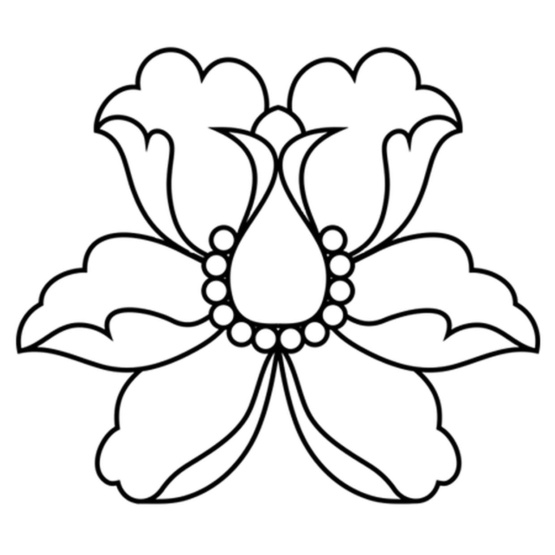 Coloriage Fleur De Lotus Stylisée En Ligne Gratuit à Imprimer