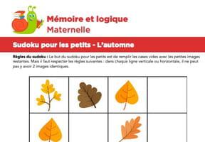 Sudoku pour les petits, l'automne