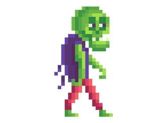 Pixel art Halloween Zombie