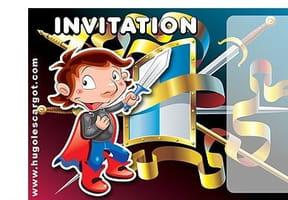 Carte invitation anniversaire petit chevalier