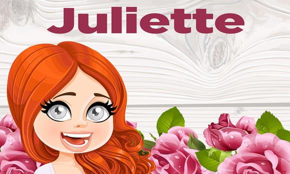 Juliette : prénom de fille lettre J