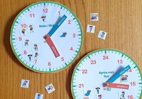 Fabriquer une horloge en carton