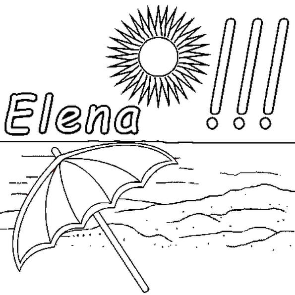 Dessin Elena a colorier