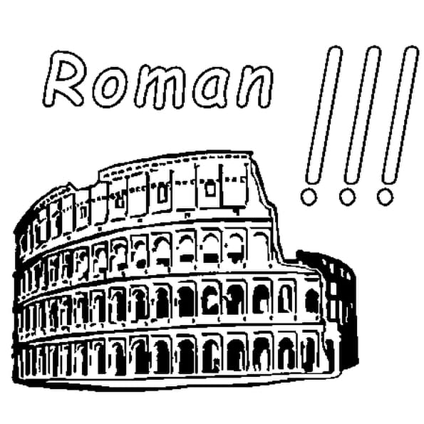 Coloriage Roman en Ligne Gratuit à imprimer