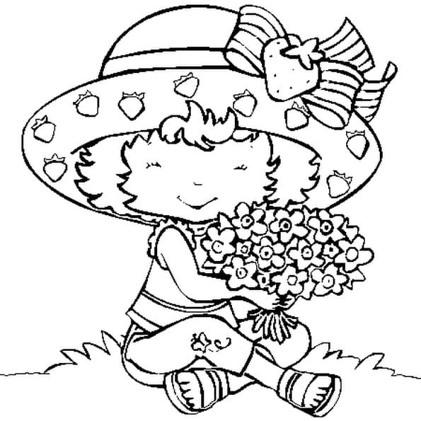 Coloriage charlotte aux fraises en Ligne Gratuit à imprimer
