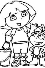Coloriage Dora L Exploratrice En Ligne Gratuit A Imprimer