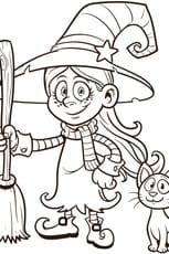 Coloriage Petite sorcière