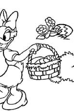 Coloriage Panier pâques en Ligne Gratuit à imprimer