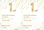 Carte d'invitation d'anniversaire 1 an