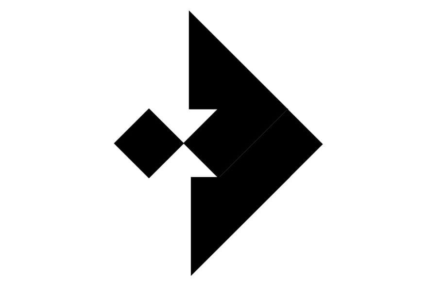 Le tangram niveau difficile, un poisson scalaire