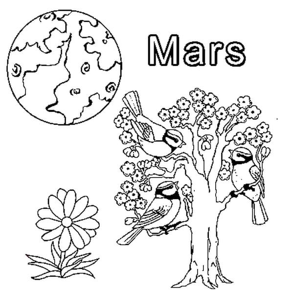 Coloriage Mars En Ligne Gratuit à Imprimer
